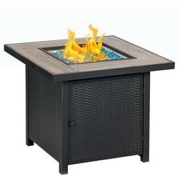 """BALI OUTDOORS 30"""" Square LP Gas Fire Table Propane Gas Firep"""