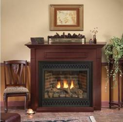Deluxe 32 Tahoe Direct Vent MV Fireplace with Arch Mission D