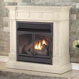 Duluth Forge Dual Fuel Ventless Gas Fireplace -32,000 BTU An